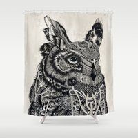 owl Shower Curtains featuring Owl by Feline Zegers