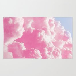 Retro cotton candy clouds Rug
