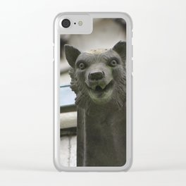 Watchful Wolf Clear iPhone Case