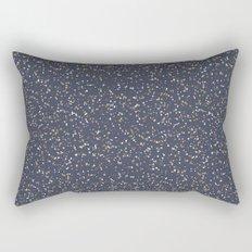 Speckles I: Dark Gold & Snow on Blue Vortex Rectangular Pillow