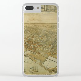 Galveston, Texas 1885 Clear iPhone Case