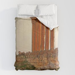 Frederic Edwin Church - Ruins Of The Temple Of Zeus, Baalbek - Digital Remastered Edition Comforters