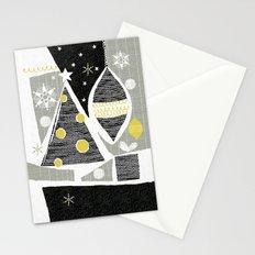 achromatic holidays Stationery Cards