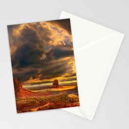 Monument Valley USA sunser desert american landmarks Navajo Nation Colorado Plateau Utah America Stationery Cards