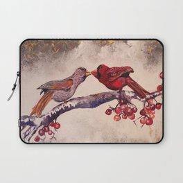 Kissing Cardinals Laptop Sleeve