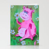cow Stationery Cards featuring Cow by OLHADARCHUK