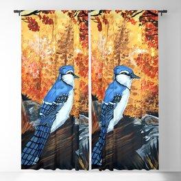 Blue Jay Life Blackout Curtain