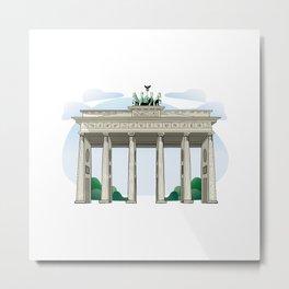 Brandenburg Gate in Berlin Metal Print