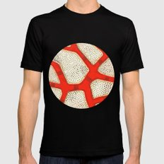 red coral Black MEDIUM Mens Fitted Tee