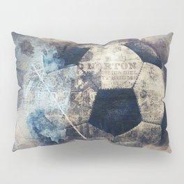 Abstract Grunge Soccer Pillow Sham