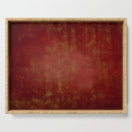 Grunge red background Serving Tray