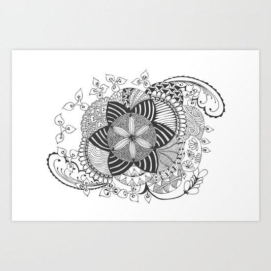 Turn black and white Art Print