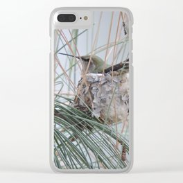 Pine Veil Nesting Clear iPhone Case