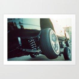Closeup of Tires on Lowrider Art Print