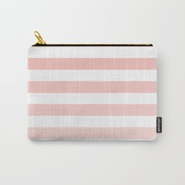 Pink and White Ombre Stripe Carry-All Pouch