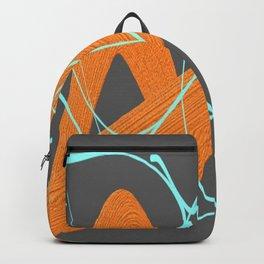 Grey orange and blue Backpack