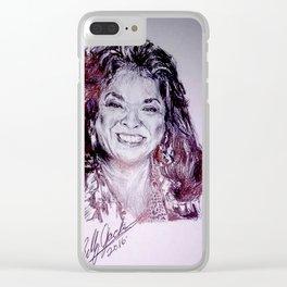 Della Reese Celebrity Portrait Clear iPhone Case