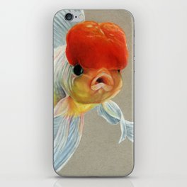 Grumpy Goldfish iPhone Skin