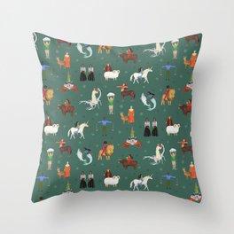 Warrior Women of the Zodiac Throw Pillow