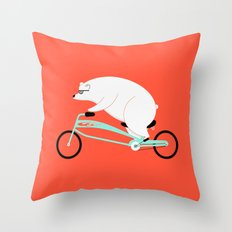 Hipster Bear Throw Pillow