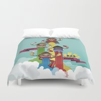 street fighter Duvet Covers featuring Street Fighter 25th Anniversary!!! by Ed Warner