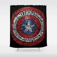 steve rogers Shower Curtains featuring Who is Steve Rogers? by dailymantra