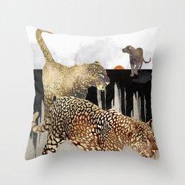 Minimal Leopards Throw Pillow