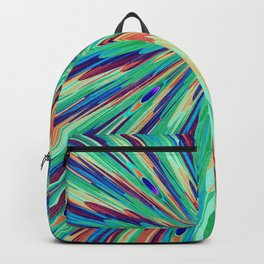 Peacock feather abstraction Backpack