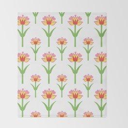 Papercut Florals Throw Blanket