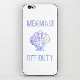 Mermaid Off Duty - Purple & Blue Seashell iPhone Skin