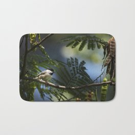 Roosting Black Capped Chickadee Bath Mat