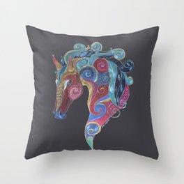 Horse Totem Throw Pillow