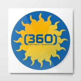 (360)  Metal Print