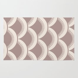 Japanese Fan Pattern Beige 2 Rug