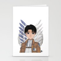 levi Stationery Cards featuring Levi Rivaille by Larkee Beatz