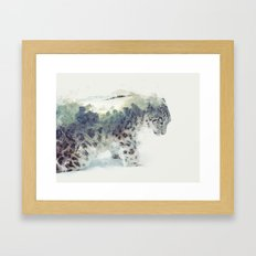 Snow Leopard II Framed Art Print