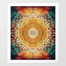 Cygnus Cosmic Mandala Art Print