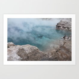 Turquoise Geyser Art Print