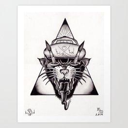 Panthers 'n' Paintbrushes Art Print