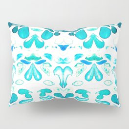 Memories of Summer, Bright Sea Blue and Yellow Pillow Sham