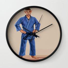 Karate Elf Wall Clock