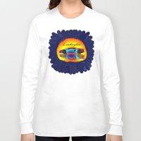 lamborghini Long Sleeve T-shirts featuring Lamborghini Aventador by JT Digital Art