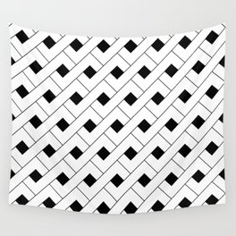 Monochrome Intricate Pattern Alpha Wall Tapestry