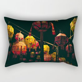 Korean Lanterns Rectangular Pillow