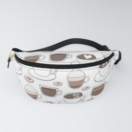 Coffee Cups Fanny Pack