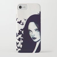 butterflies iPhone & iPod Cases featuring Butterflies by Jaaaiiro