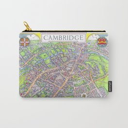 CAMBRIDGE University map ENGLAND Carry-All Pouch