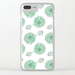 PATTERN II Succulent Life Clear iPhone Case