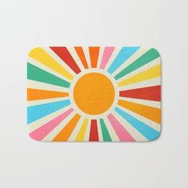 Retro Sunrise: Rainbow Edition Bath Mat
