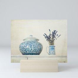 Lavender with Ginger Jar and Jug Mini Art Print